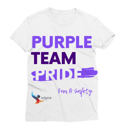 Purple Team Pride Classic Sublimation Camiseta de mujer