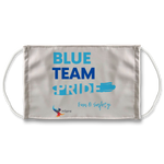 Blue Team Pride Sublimation Face Mask