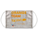Orange Team Pride Sublimation Face Mask