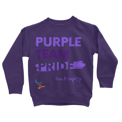 Purple Team Pride Classic Kids Sweatshirt