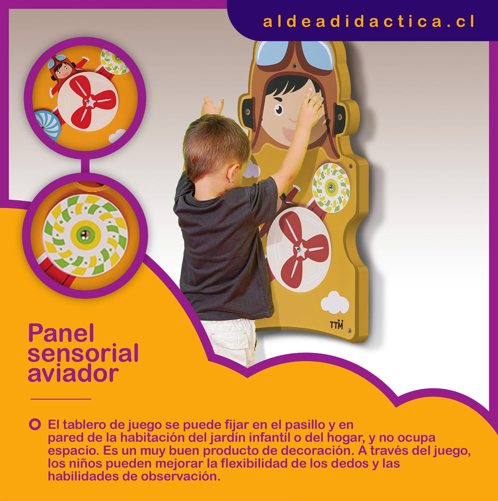 PANEL SENSORIAL PARED AVIADOR