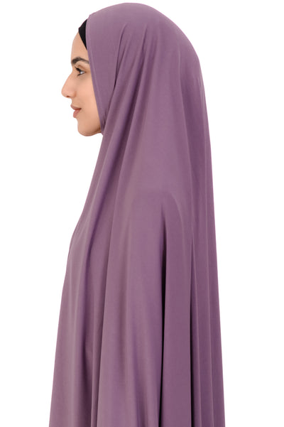 Standard Length Sleeved Jelbab in Mauve