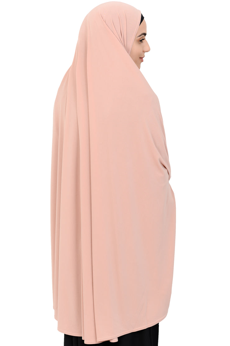 Standard Length Sleeved Jelbab in Peach Puff