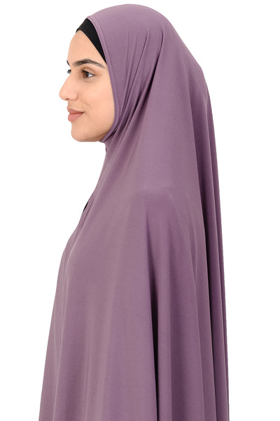 Standard Length Sleeved Jelbab in Light Purple