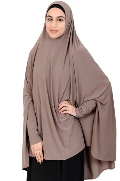 Standard Length Sleeved Jelbab in Mocha