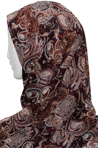 Printed  Scarf in Brown