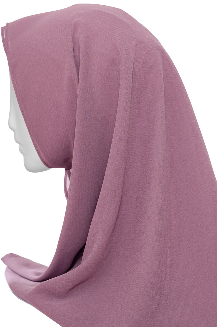Chiffon Scarf in Light Plum
