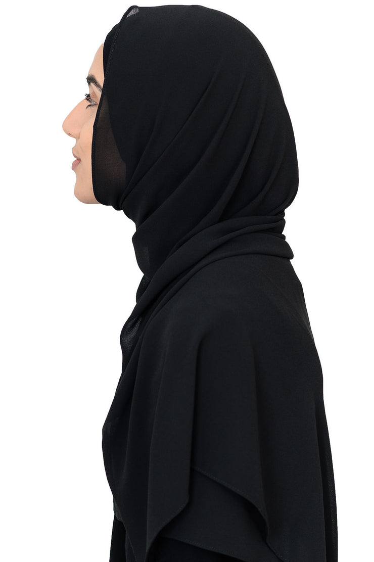 Chiffon Scarf in Black