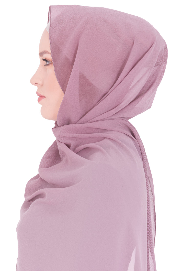 Chiffon Scarf in Comeo Pink