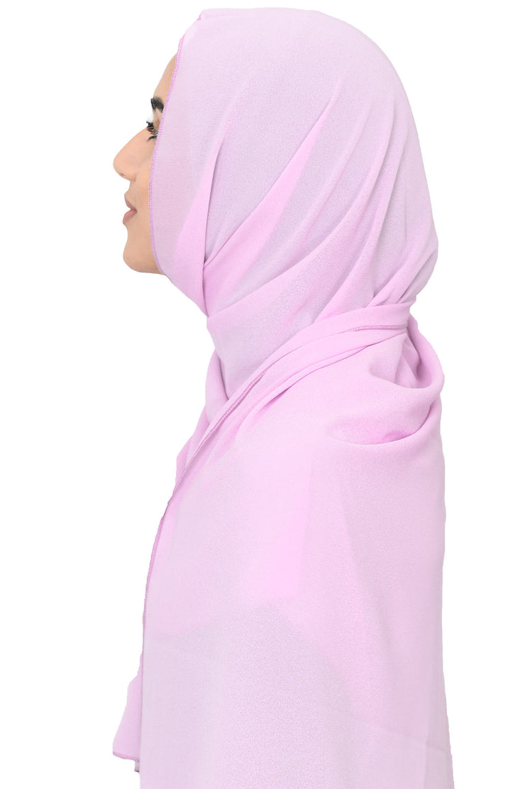 Chiffon Scarf in Light Pink