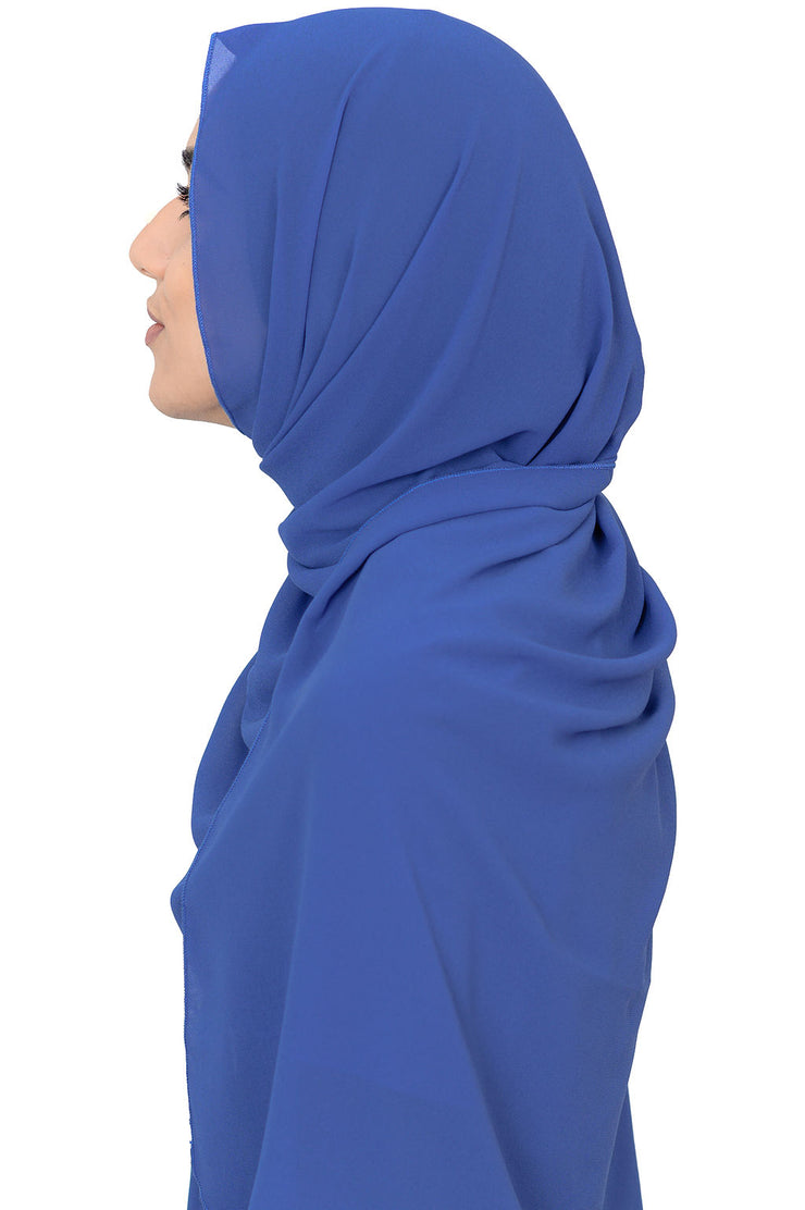 Chiffon Scarf in Nebulas Blue