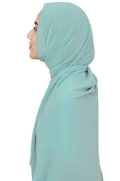 Chiffon Scarf in Spearmint
