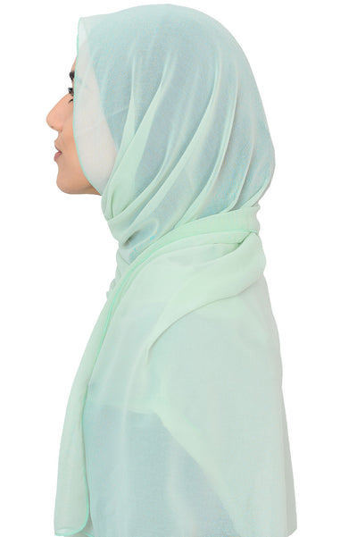 Chiffon Scarf in Tea