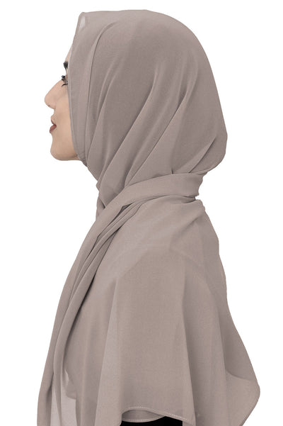 Chiffon Scarf in Light Taupe