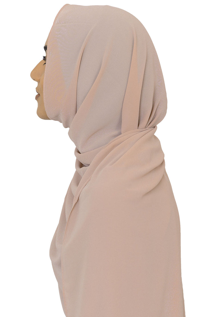 Chiffon Scarf in Peach Quartz