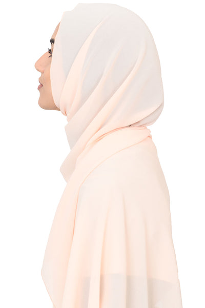 Chiffon Scarf in Misty Peach