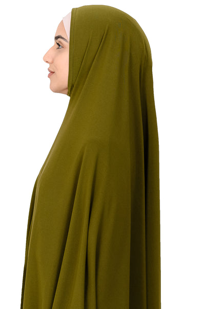 Standard Length Sleeved Jelbab in Khaki