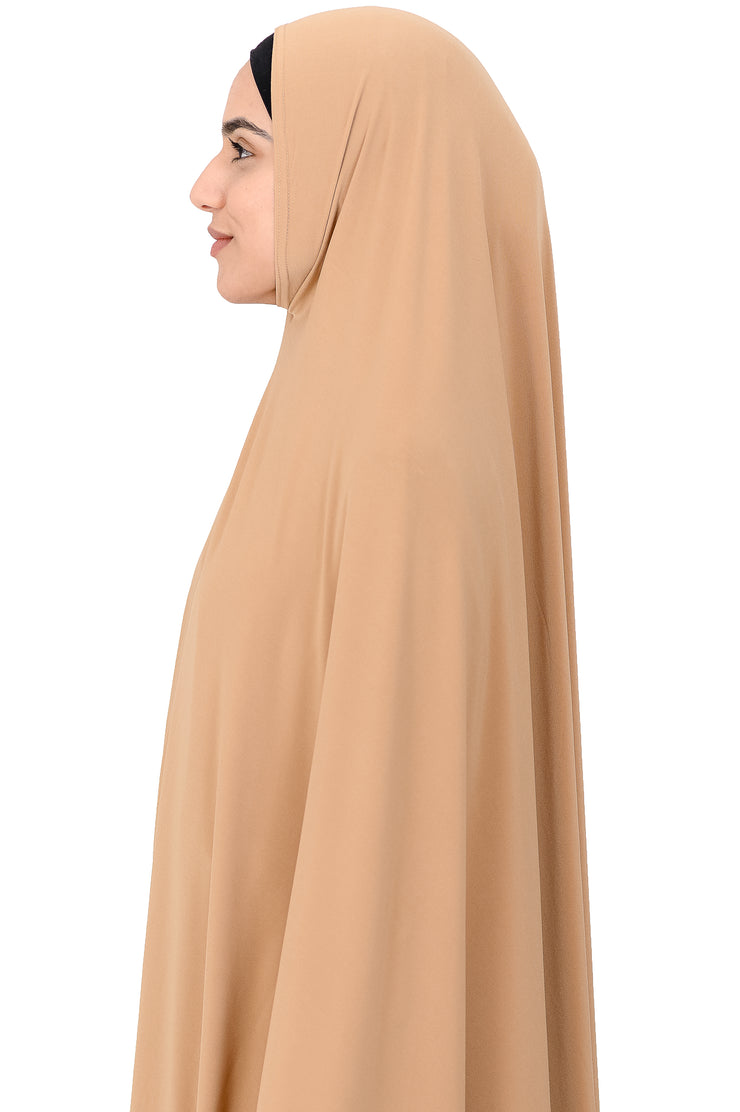Standard Length Sleeved Jelbab in Sandstone