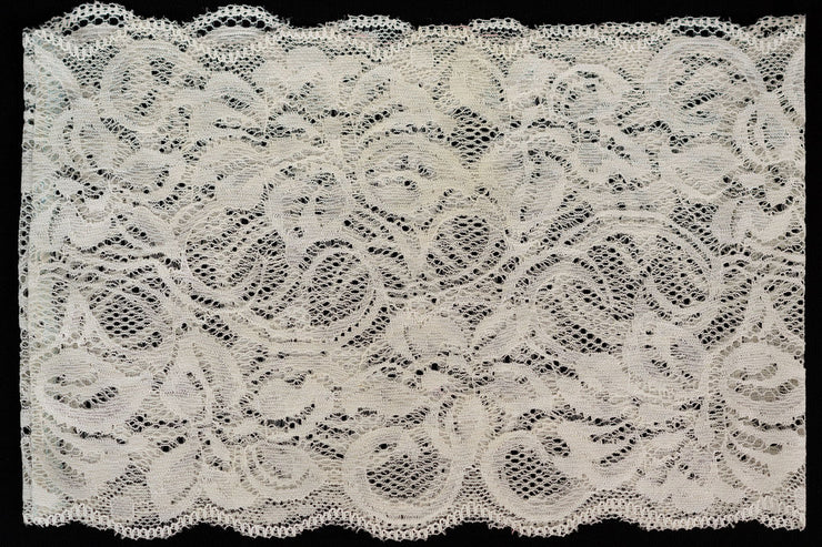 Lace Band in  Silver White