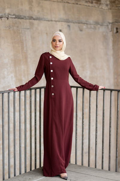 Leen Side Button Abaya