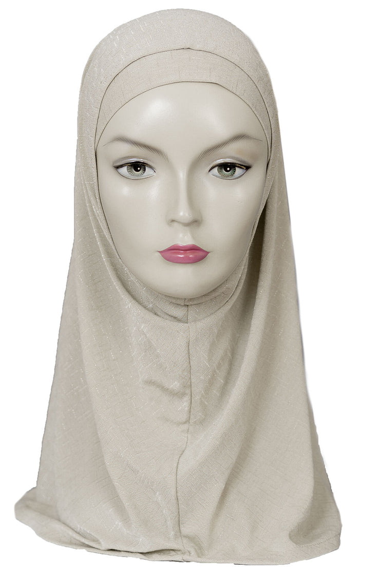 2 PCS  Textured Head Set- Light  Beige