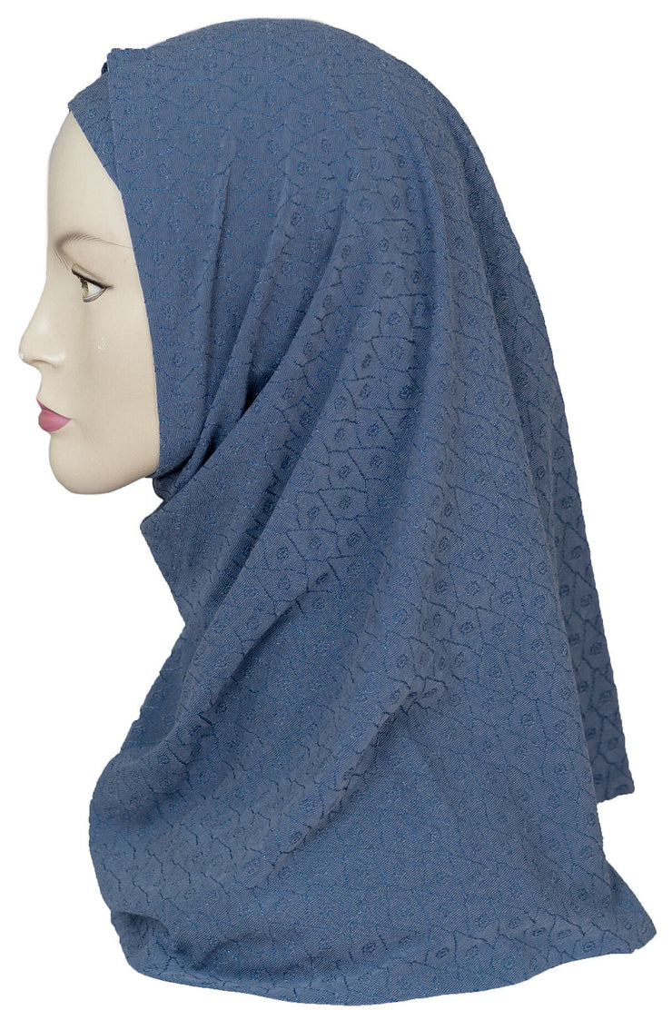 2 PCS  Textured Head Set- Denim Blue
