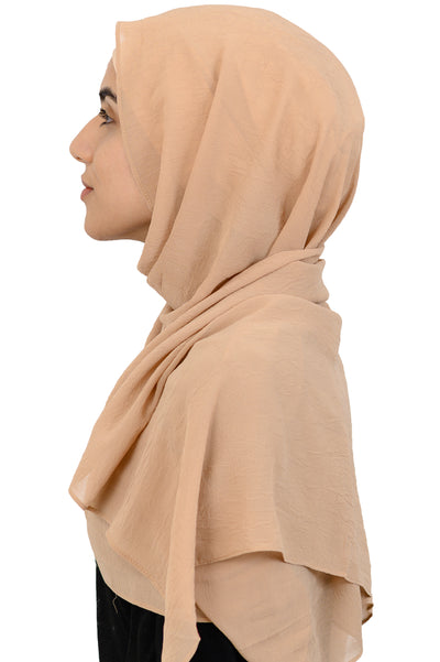 Textured Scarf in Pale Gold