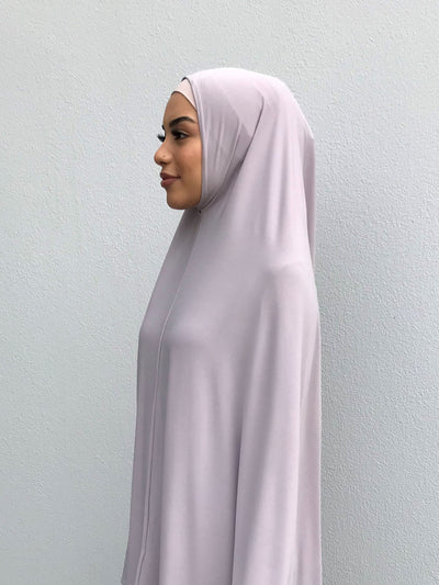 Standard Length Sleeved Jelbab in Oyster Grey