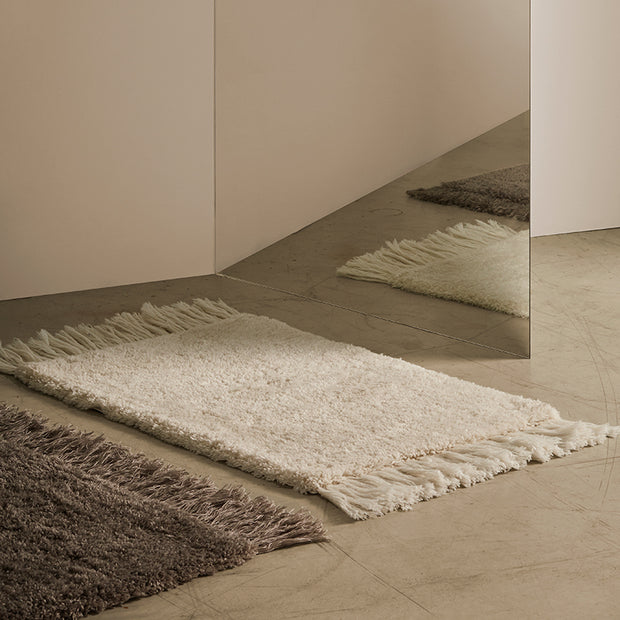 ANNO Rug made of recycled plastic PET - White