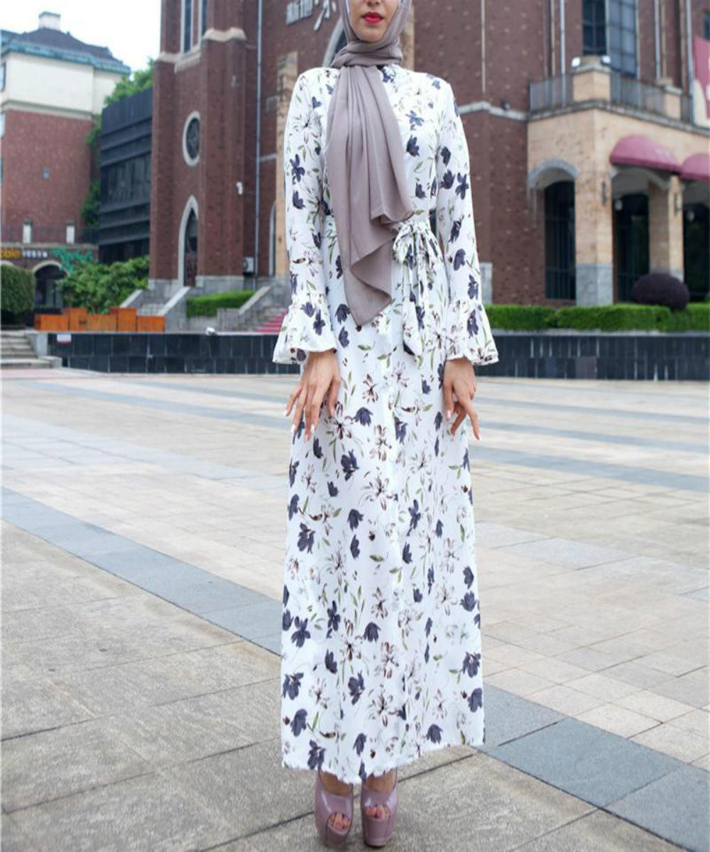 Buttoned Flare Sleeves Maxi - Modest Apparel | Modest Nisah