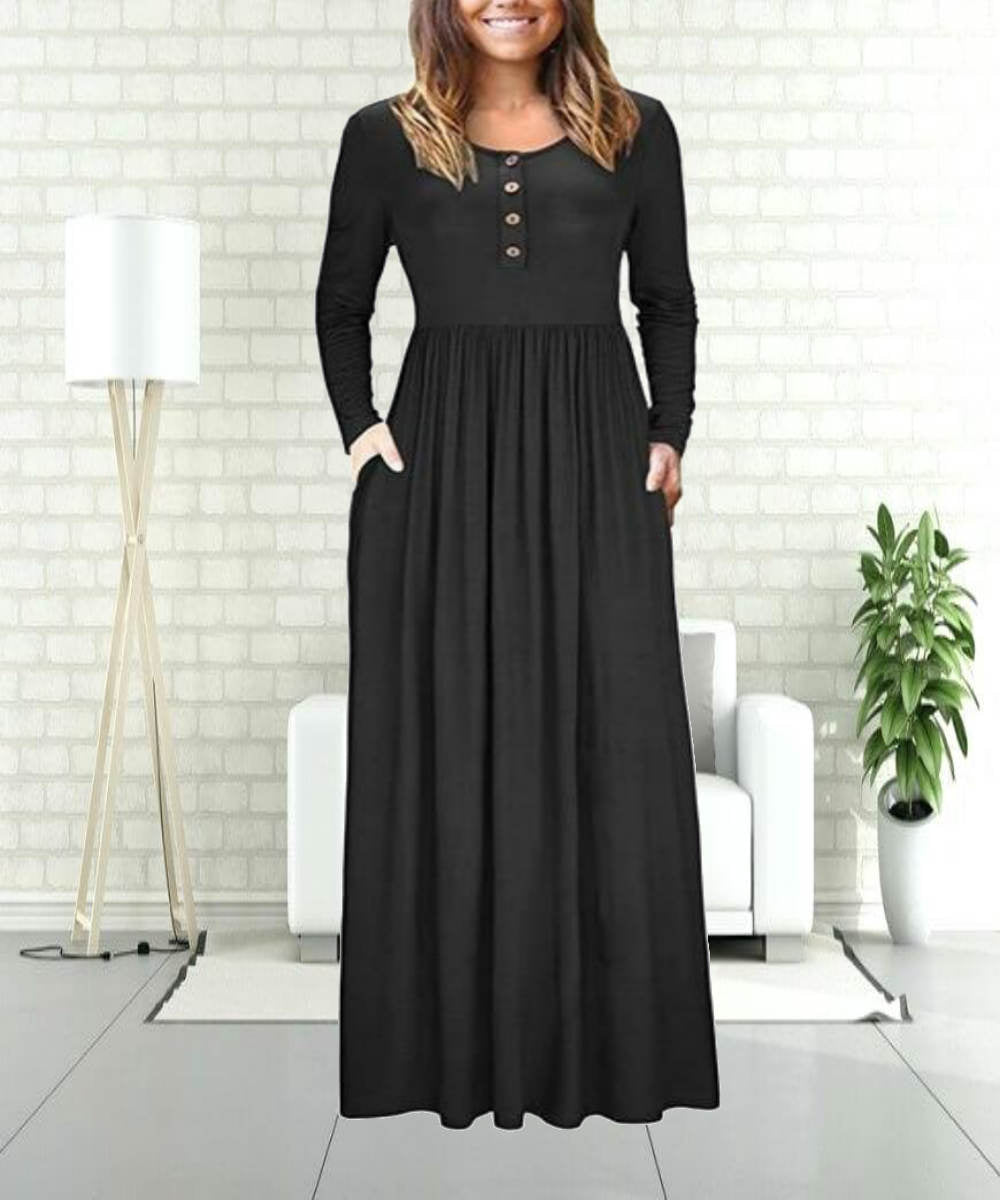 Pleated Black Abaya - Modest Apparel | Modest Nisah