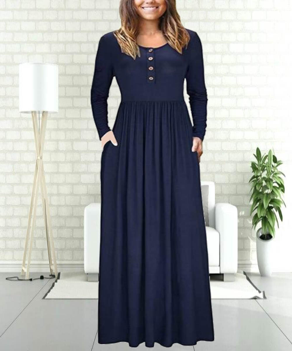 Pleated Blue Abaya - Modest Apparel | Modest Nisah