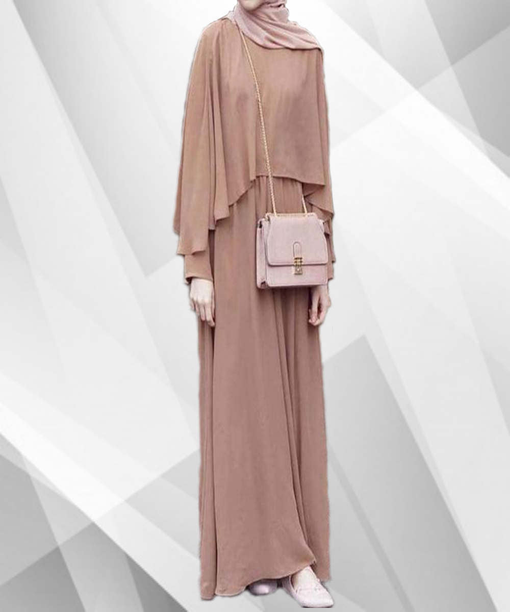 Ruffle Shawl Abaya - Modest Apparel | Modest Nisah