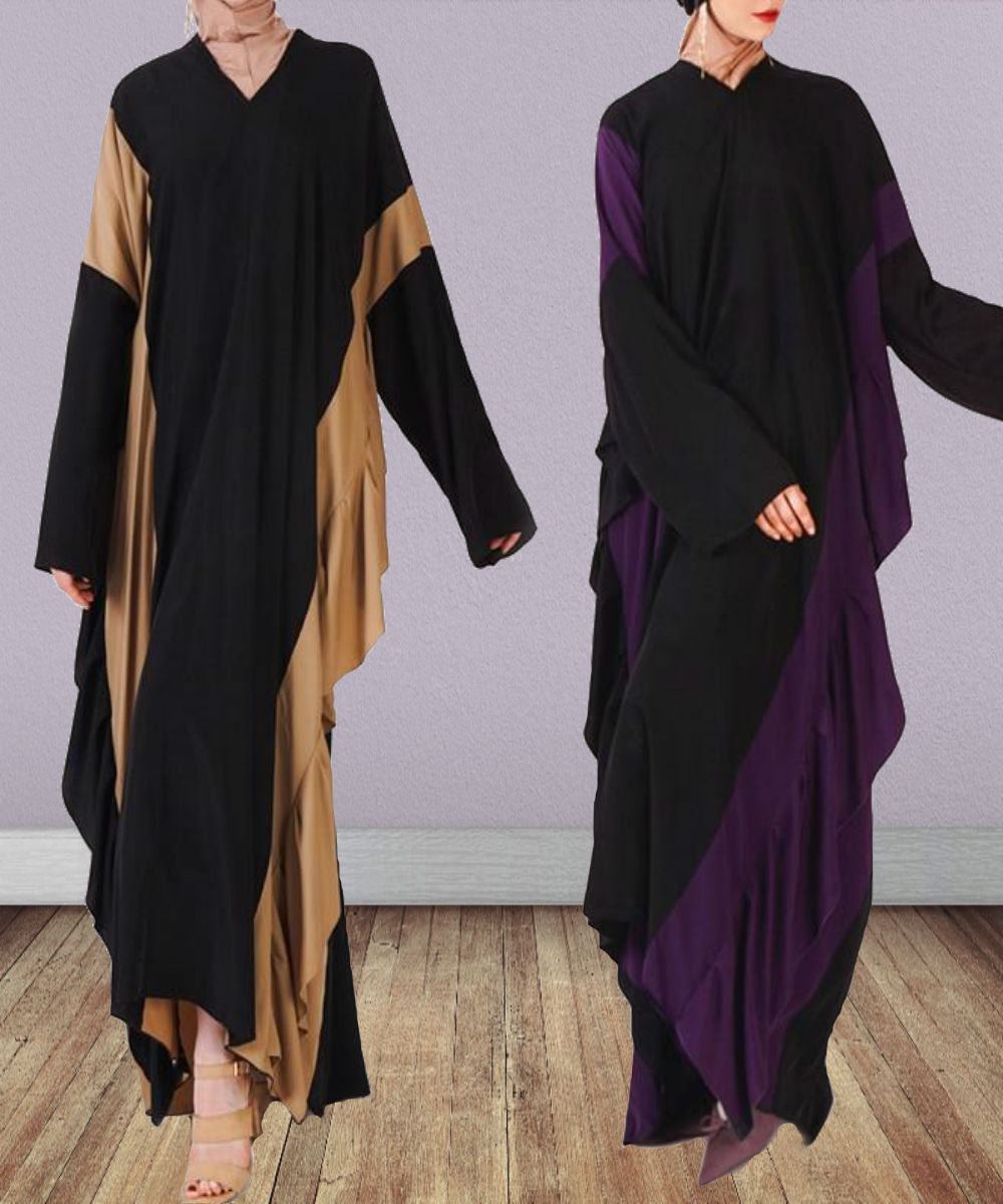 Ruffled Silhouette Abaya - Modest Apparel | Modest Nisah