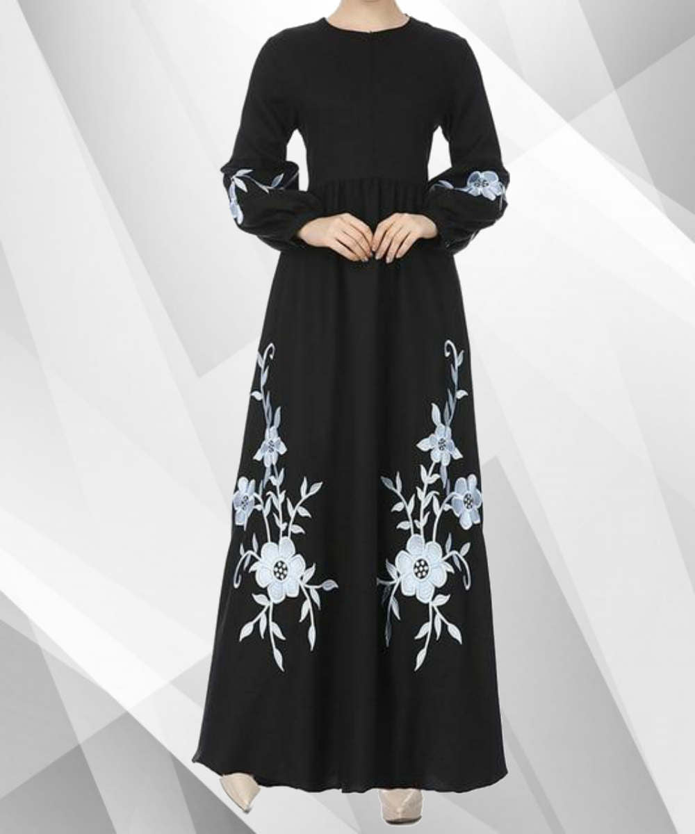 Vintage Floral Kaftan Maxi Dress - Modest Apparel | Modest Nisah