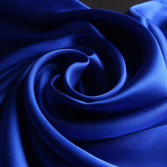 Royal Blue Mulberry Silk Scarf - Modest Apparel | Modest Nisah