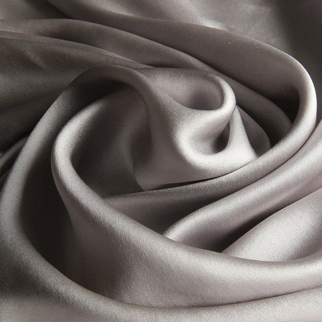 Sophisticated Ash Grey Mulberry Silk Scarf - Modest Apparel | Modest Nisah