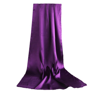 Classy Purple Mulberry Silk Scarf - Modest Apparel | Modest Nisah