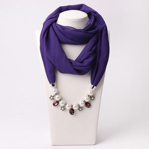 Pearls Necklace Statement Scarves - Modest Apparel | Modest Nisah