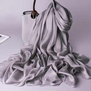 Gray Pure Essential Silk Scarf - Modest Apparel | Modest Nisah