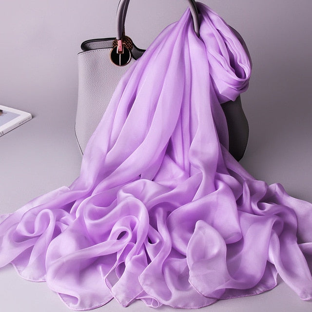 Lavender Pure Essential Silk Scarf - Modest Apparel | Modest Nisah