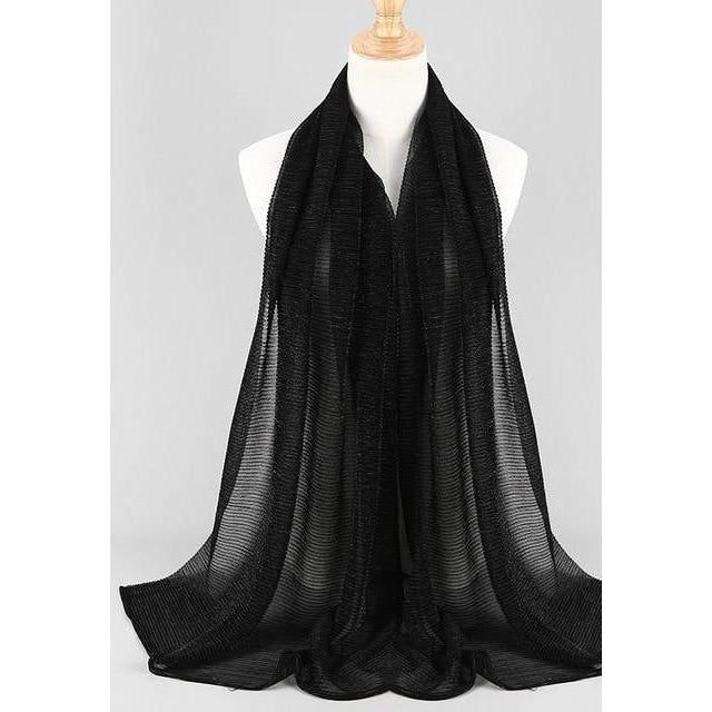 Shiny Crinkle Pleated Scarf - Modest Apparel | Modest Nisah