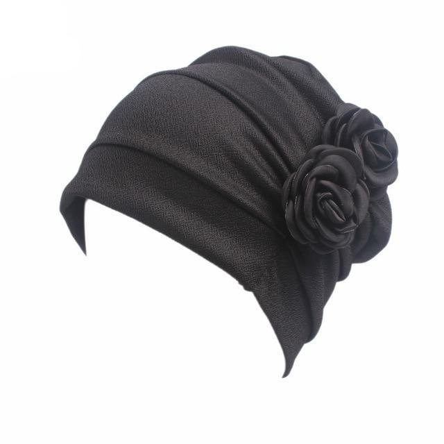 Elegant 3D Flower Pleated Hijab Cap - Modest Apparel | Modest Nisah