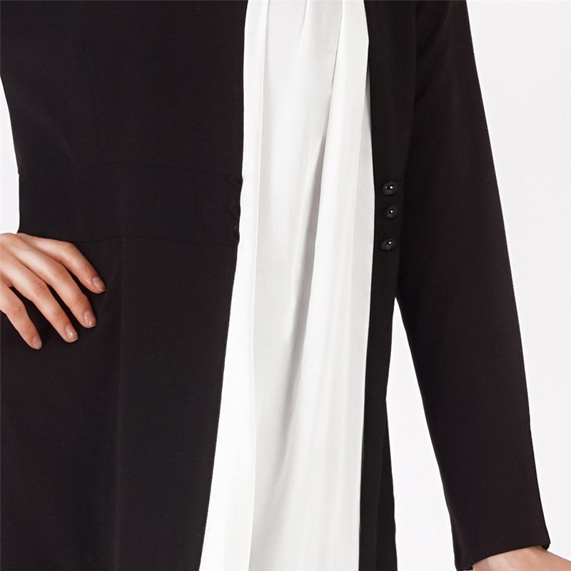 Swan Buttoned Abaya - Modest Apparel | Modest Nisah