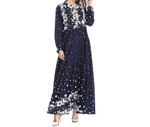 Sleek Temperament Floral Kaftan Maxi Dress - Modest Apparel | Modest Nisah