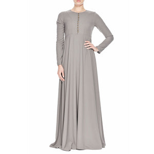 Pleated Neutral Abaya - Modest Apparel | Modest Nisah