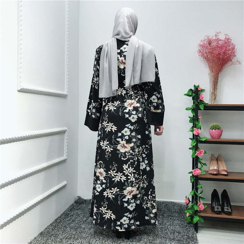 Black Blossom Abaya - Modest Apparel | Modest Nisah