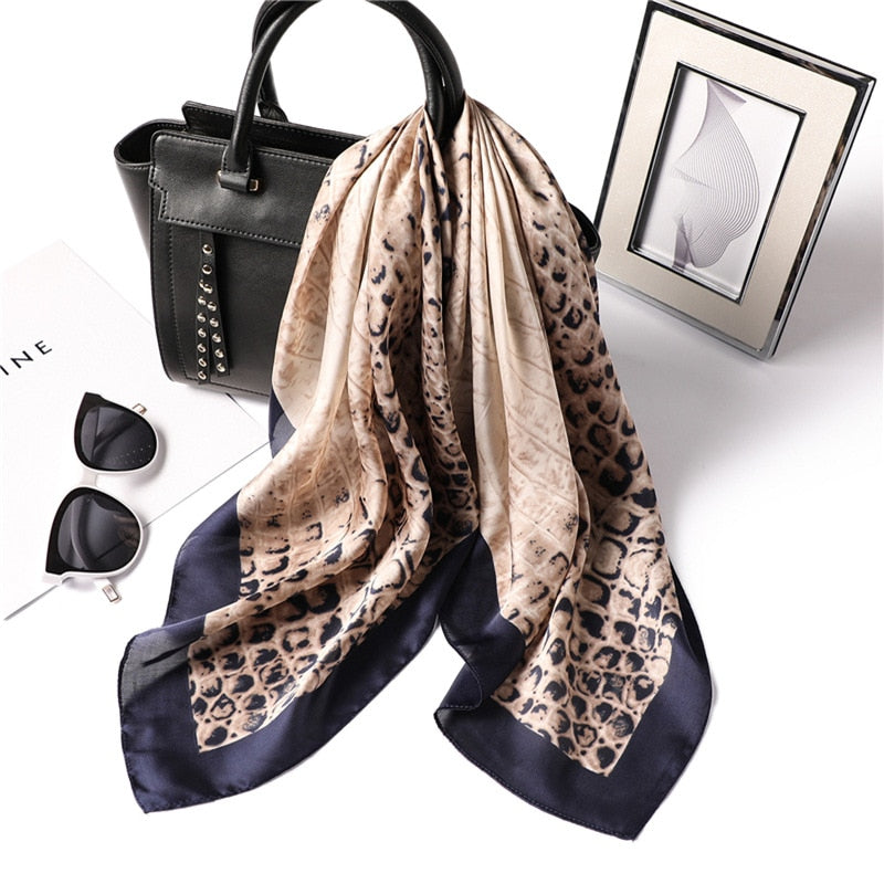 Leopard Square Scarf - Modest Apparel | Modest Nisah