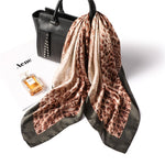 Brown Leopard Square Scarf - Modest Apparel | Modest Nisah