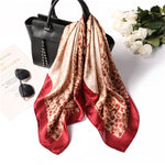 Red Leopard Square Scarf - Modest Apparel | Modest Nisah